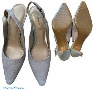 Antonio Melani Leather slung back heels